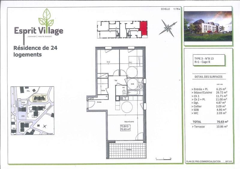 Vente appartement Cornier 250500€ - Photo 2