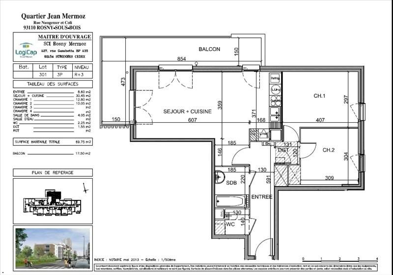 Sale apartment Rosny sous bois 235000€ - Picture 4