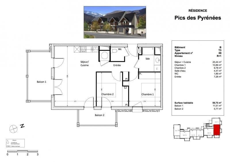 Immobile residenziali di prestigio appartamento Bagneres de luchon 209125€ - Fotografia 3