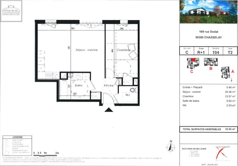 Sale apartment Chasselay 147500€ - Picture 3