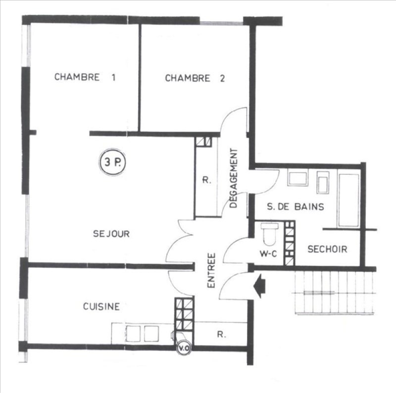 Location appartement Gif sur yvette 900€ CC - Photo 7