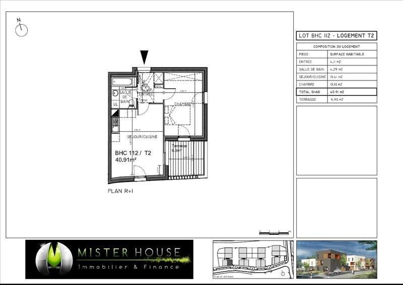 Verkoop  appartement Montauban 111084€ - Foto 2