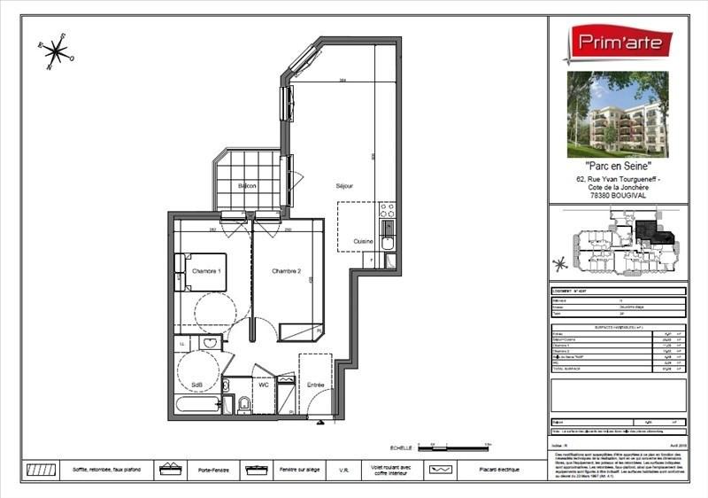 Sale apartment Bougival 318000€ - Picture 2