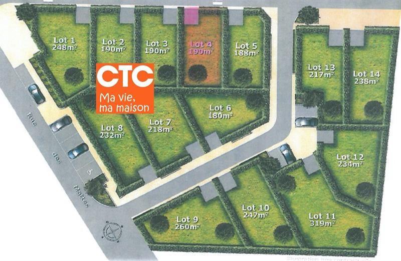 Terrain  de 190 m² Royan par Maisons CTC