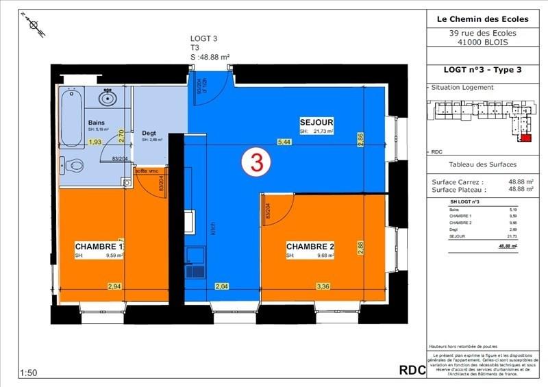 Vente appartement Blois 103500€ - Photo 3