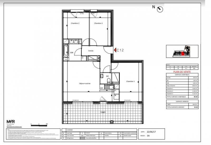 Sale apartment St jean de vedas 291000€ - Picture 1