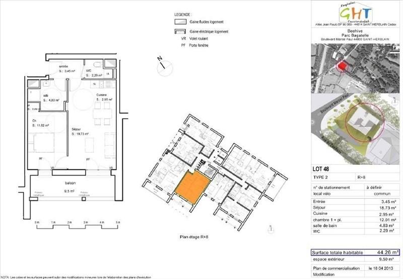 Location appartement Saint herblain 540€cc - Photo 3