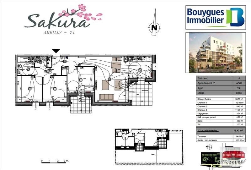 Vendita appartamento Ambilly 376000€ - Fotografia 3