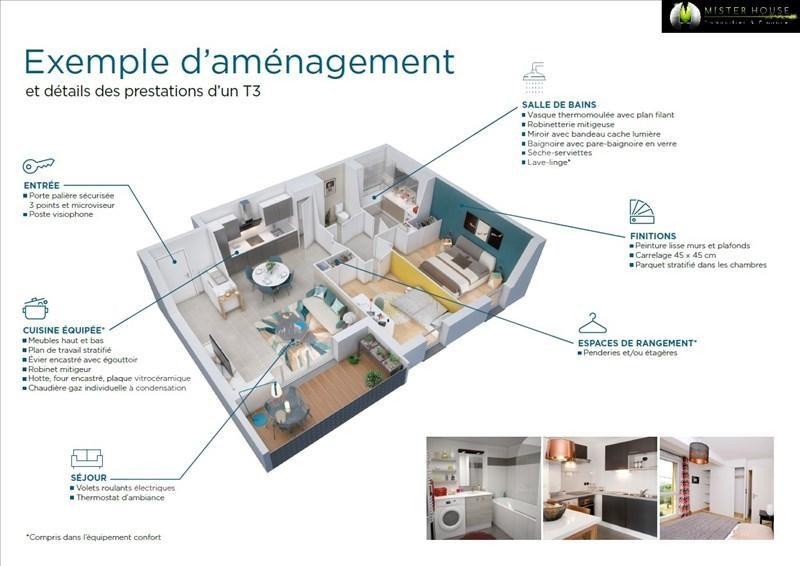 Vendita appartamento Montauban 144500€ - Fotografia 3