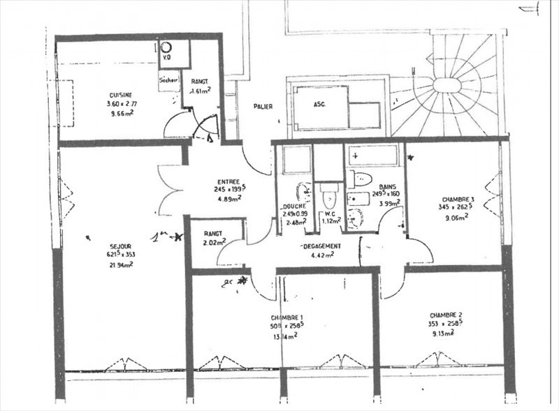 Revenda apartamento Gennevilliers 235000€ - Fotografia 3