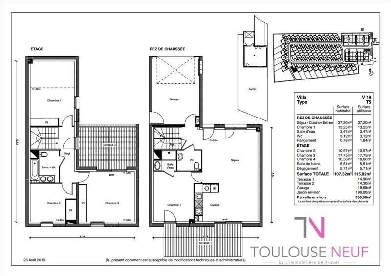 Vente maison / villa Cornebarrieu 347900€ - Photo 4