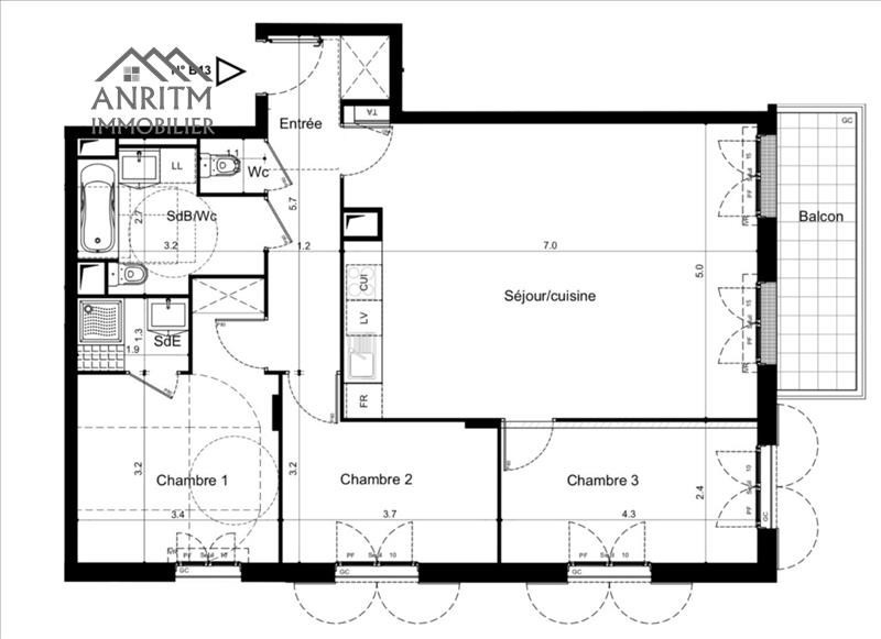 Sale apartment Plaisir 324900€ - Picture 3