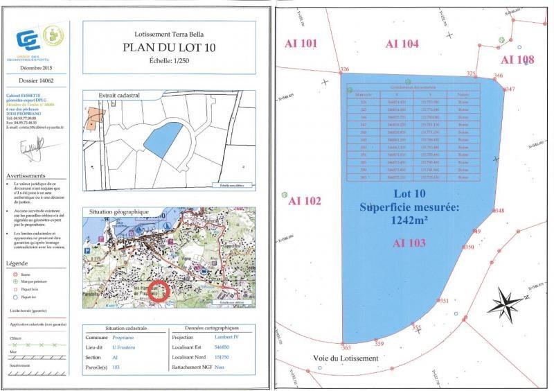 Vente terrain Propriano 190000€ - Photo 6