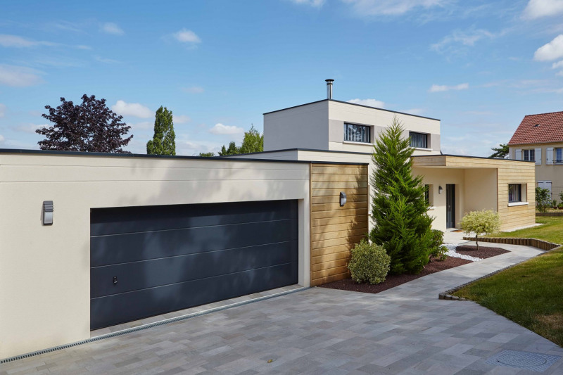 """Modèle de maison  """"Maison d'architecte contemporaine d'exception"""" Essonne par VALENTE CONSTRUCTION"""