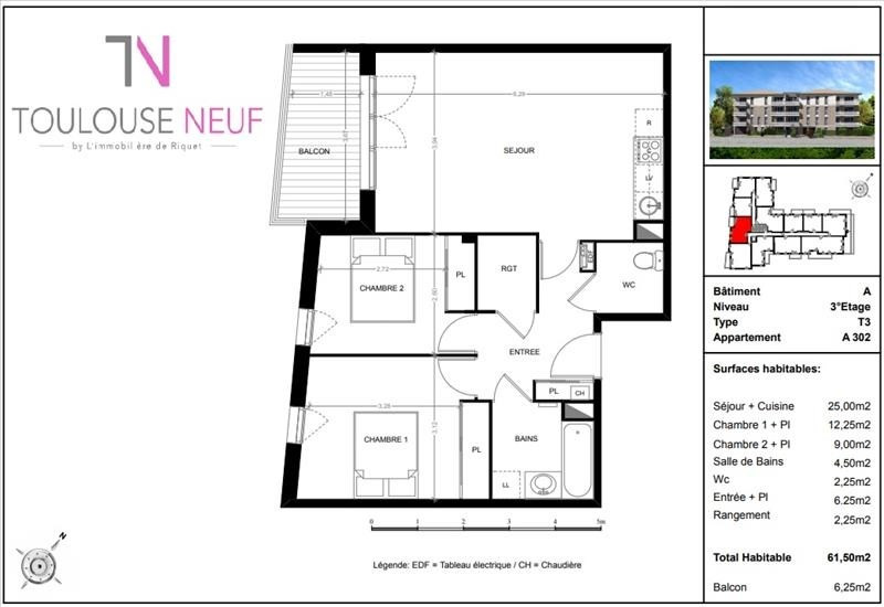 Vente appartement Toulouse 261000€ - Photo 6