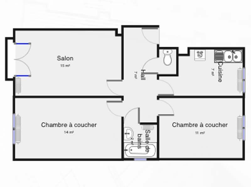 Rental apartment Palaiseau 820€ CC - Picture 1
