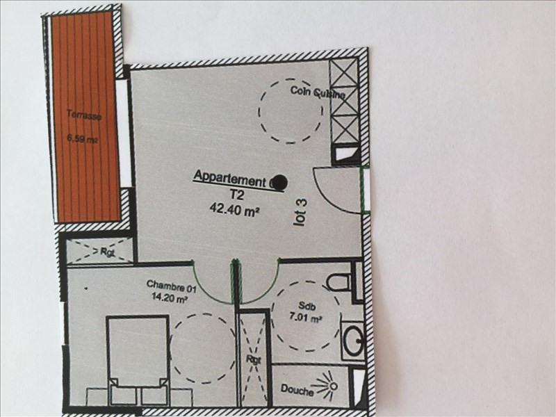 Vente de prestige appartement Charbonnieres les bains 228960€ - Photo 1