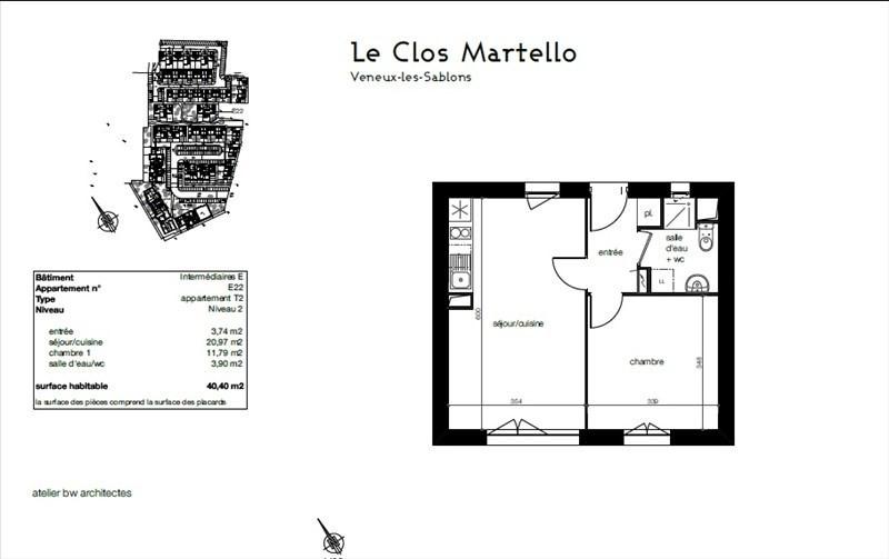 Sale apartment Veneux les sablons 109000€ - Picture 2