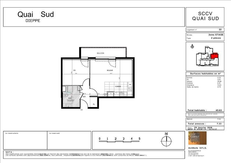 Vente appartement Dieppe 254000€ - Photo 3