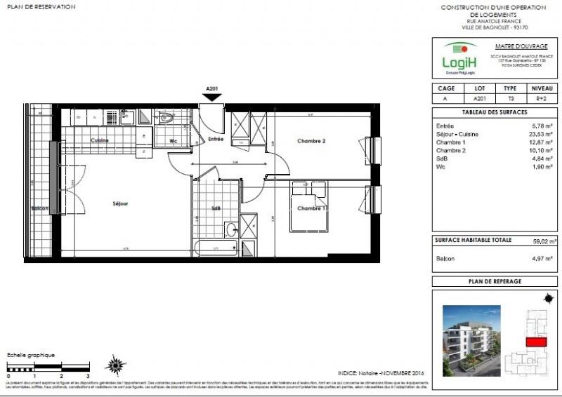 Sale apartment Bagnolet 216000€ - Picture 2