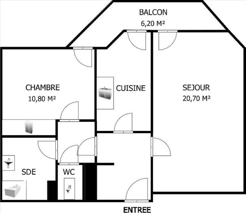 Sale apartment Courbevoie 350000€ - Picture 6