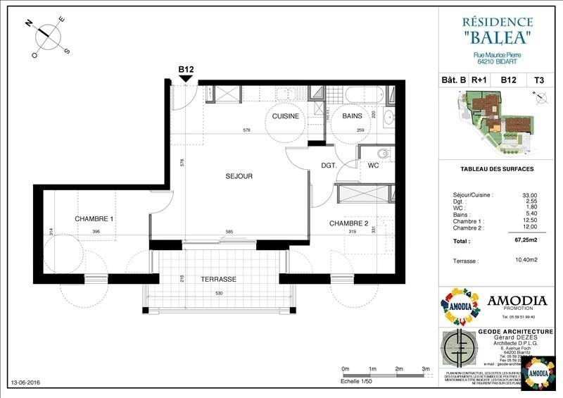 Venta  apartamento Bidart 353000€ - Fotografía 1