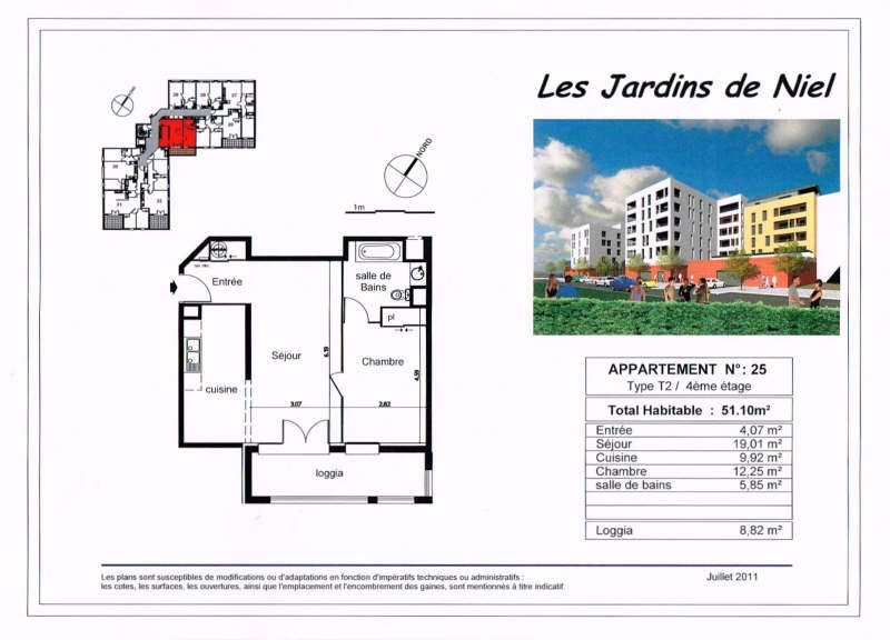 Rental apartment Toulouse 760€ CC - Picture 2