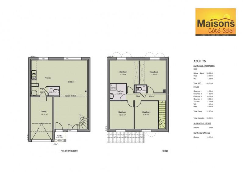 Maison  5 pièces + Terrain 850 m² Castries par maisons coté soleil