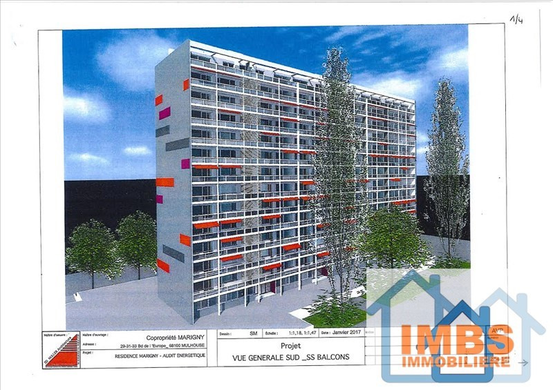 Venta  apartamento Mulhouse 99000€ - Fotografía 1