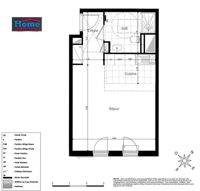 Vente appartement Rueil malmaison 310000€ - Photo 2