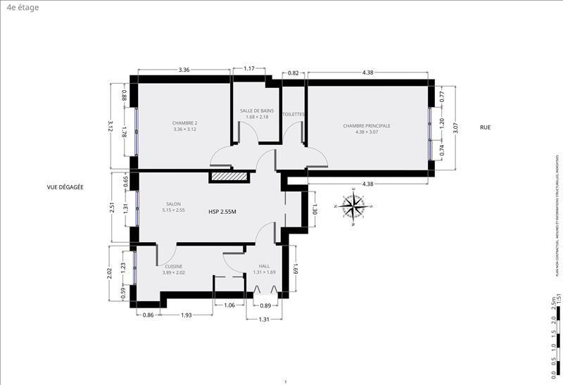 Venta  apartamento Paris 15ème 650000€ - Fotografía 9