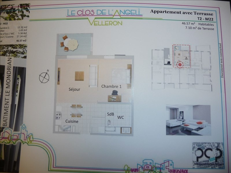 Investeringsproduct  appartement Velleron 137800€ - Foto 2
