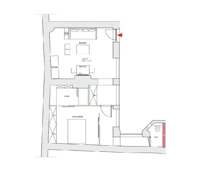 Sale apartment Lyon 2ème 377978€ - Picture 7
