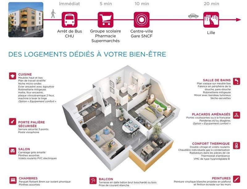 Vente appartement Armentieres 153450€ - Photo 3
