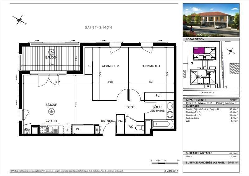 Vente appartement Toulouse 237000€ - Photo 6