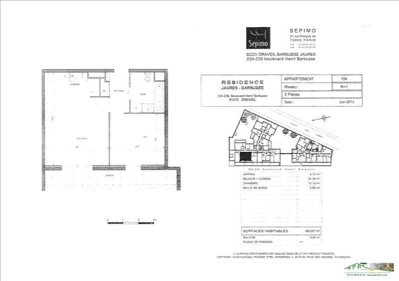 Rental apartment Draveil 787€ CC - Picture 3