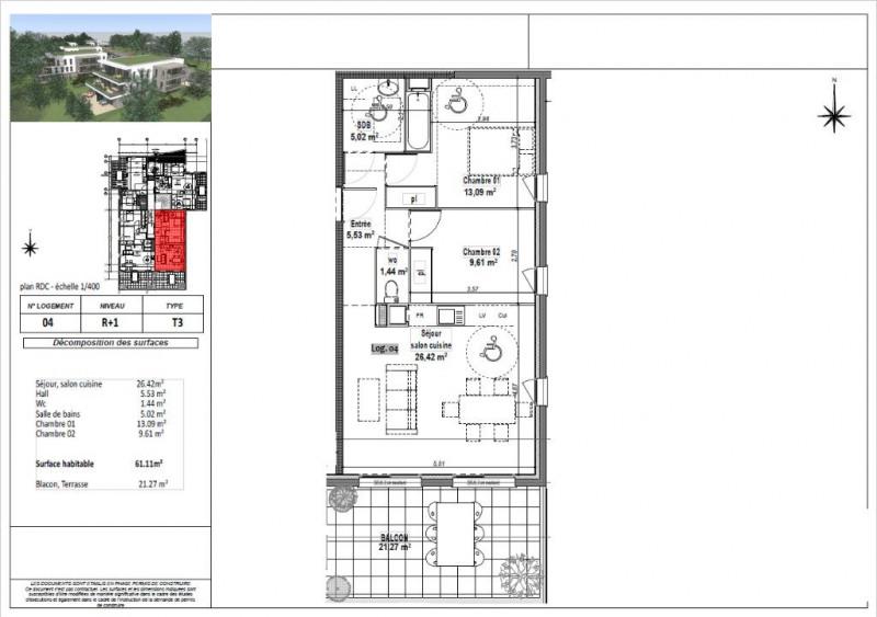Sale apartment L isle d abeau 173250€ - Picture 3