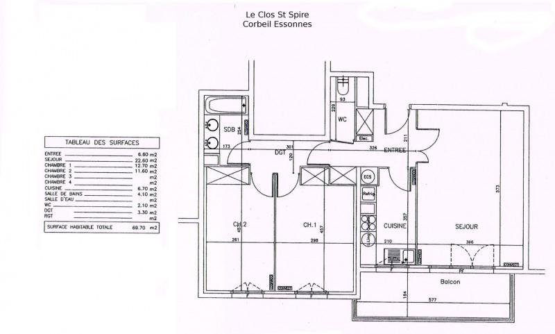 Sale apartment Corbeil essonnes 154000€ - Picture 5