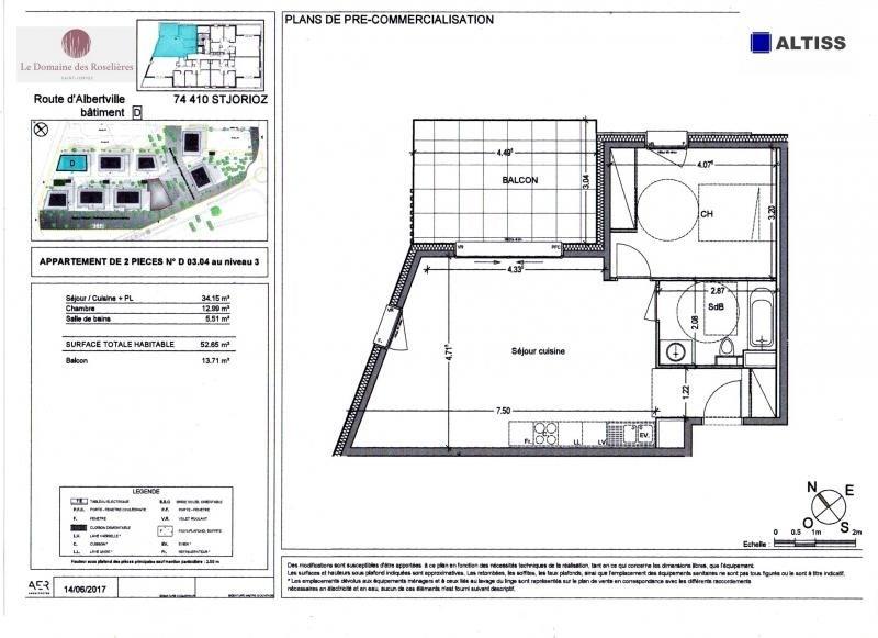 Sale apartment Saint jorioz 223000€ - Picture 2