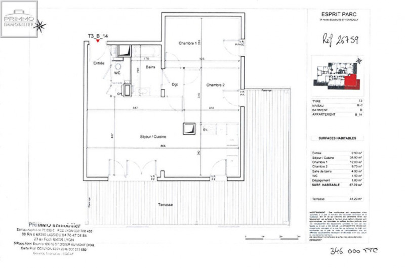 Sale apartment Dardilly 346000€ - Picture 1