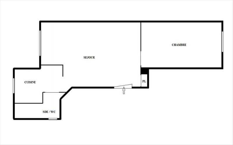 Rental apartment Clamart 1200€ CC - Picture 3