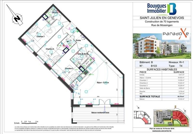Sale apartment St julien en genevois 418000€ - Picture 2
