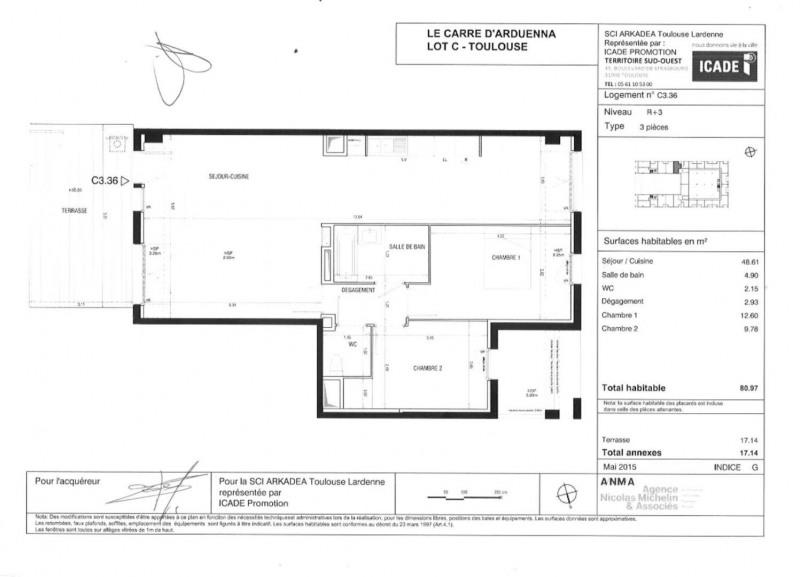 Rental apartment Toulouse 880€ CC - Picture 17