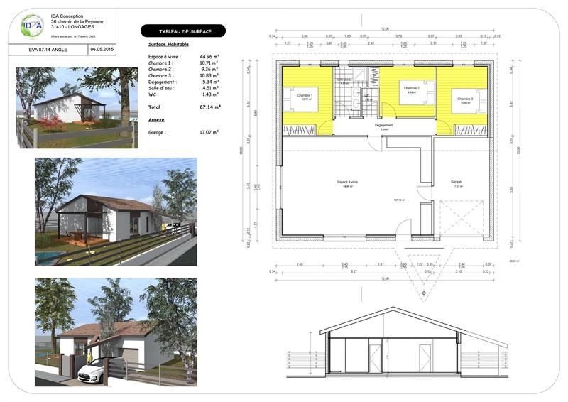 Maison  4 pièces + Terrain 826 m² Puylaurens (81700) par C3H