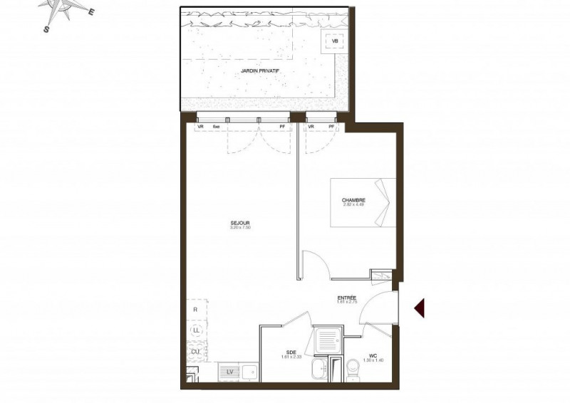 Vente appartement Trappes 132051€ - Photo 1