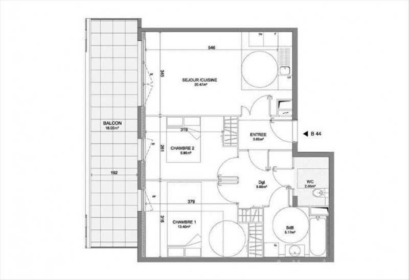 Deluxe sale apartment Montpellier 268000€ - Picture 3