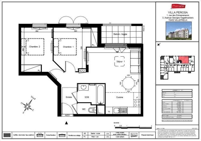 Sale apartment Villepreux 209000€ - Picture 2