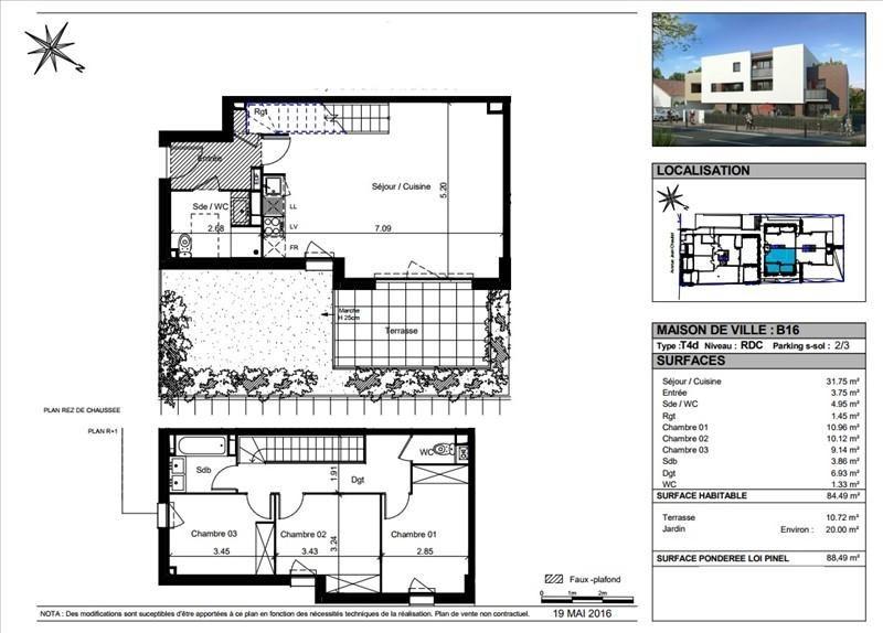 Vente maison / villa Toulouse 319000€ - Photo 5