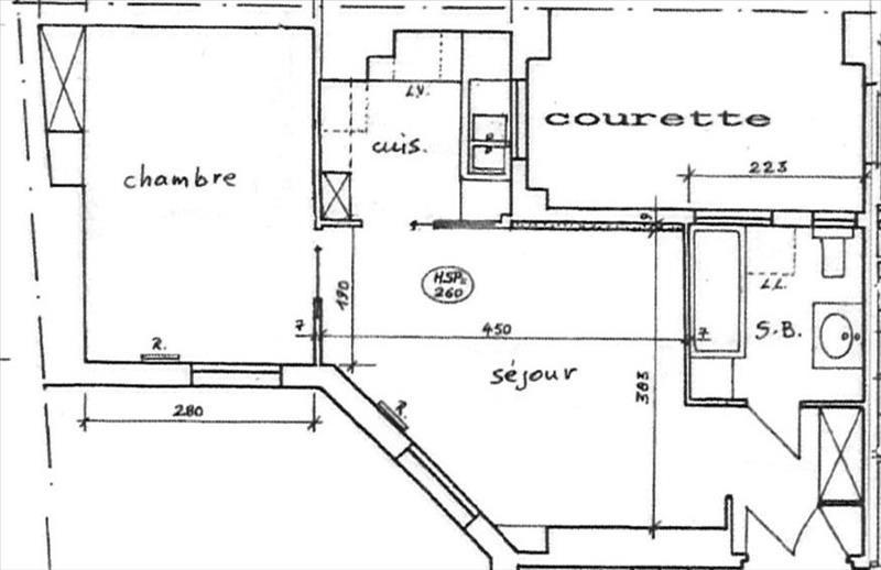 Locação apartamento Paris 17ème 1180€ CC - Fotografia 3