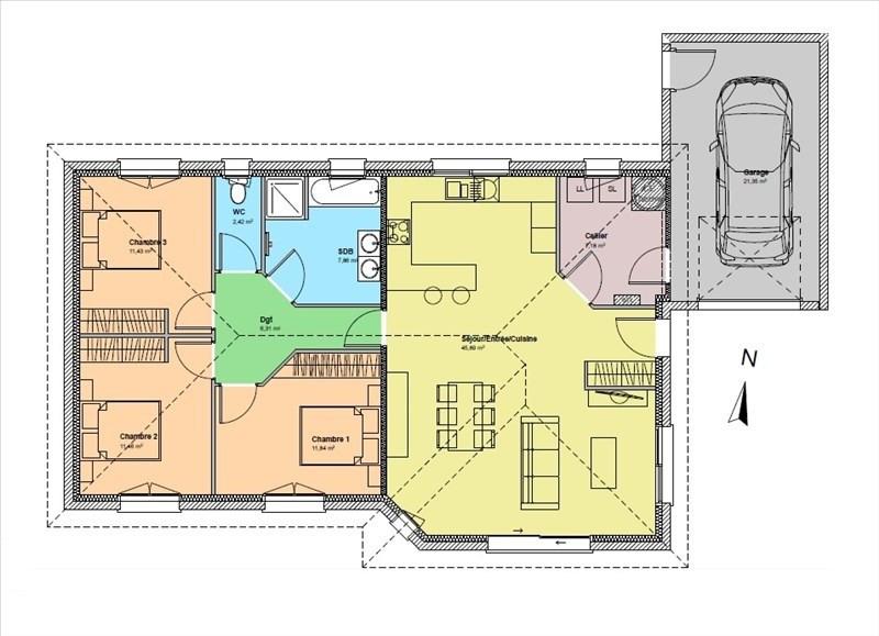Vente maison / villa Morlaas 235000€ - Photo 2